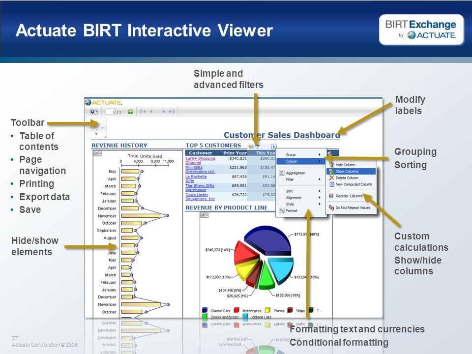 Actuate BIRT Interactive Viewer