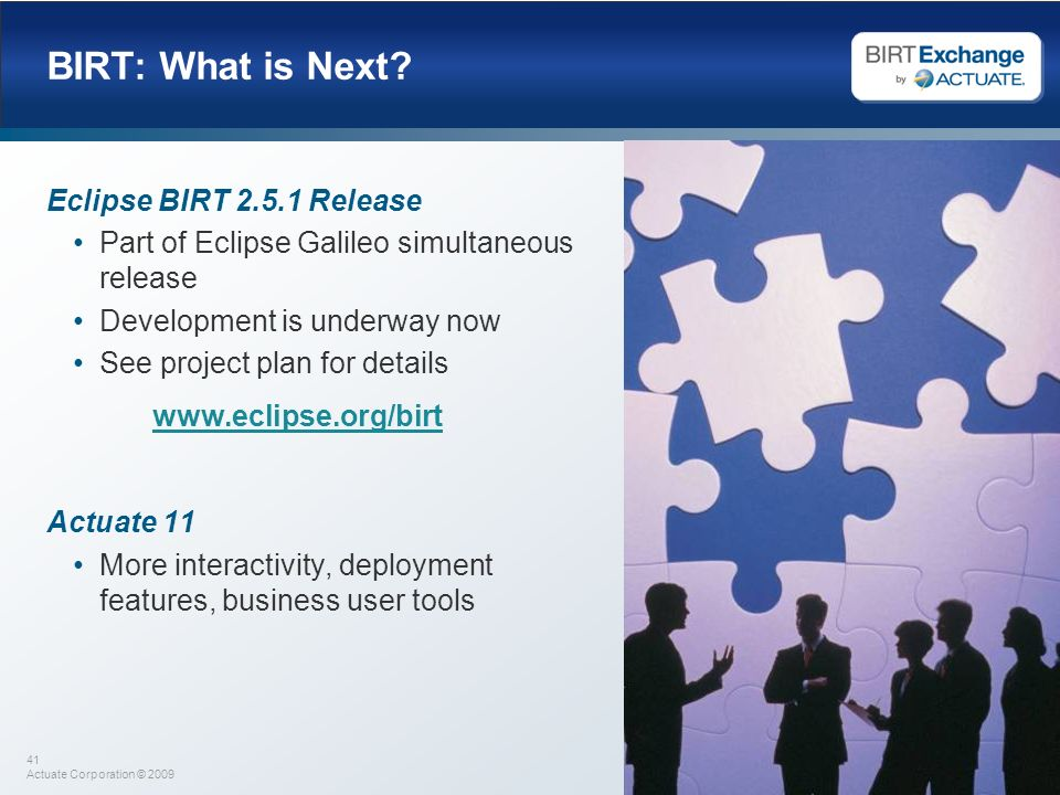 BIRT: What is Next Eclipse BIRT 2.5.1 Release