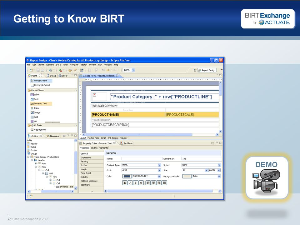 Getting to Know BIRT DEMO