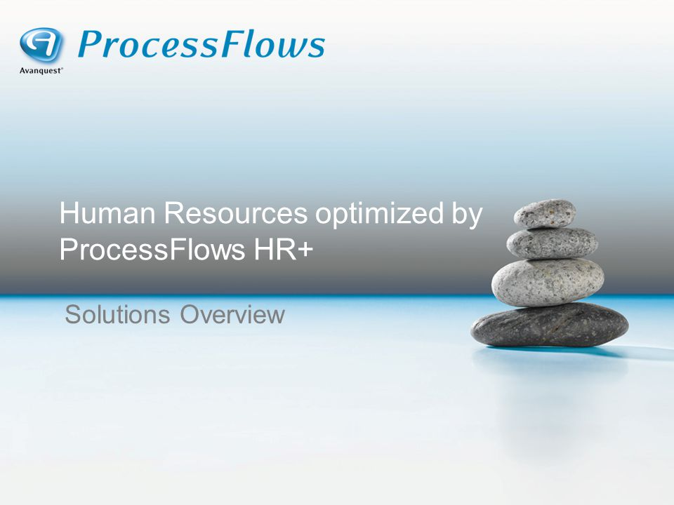 Human Resources optimized by ProcessFlows HR+