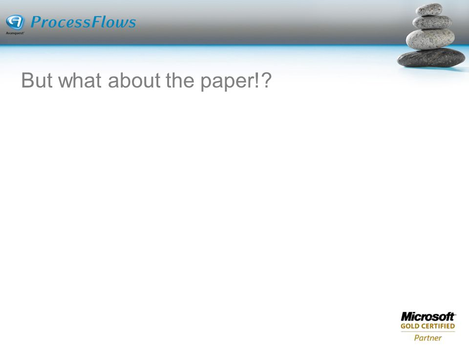 But what about the paper!