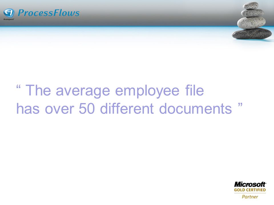 The average employee file has over 50 different documents