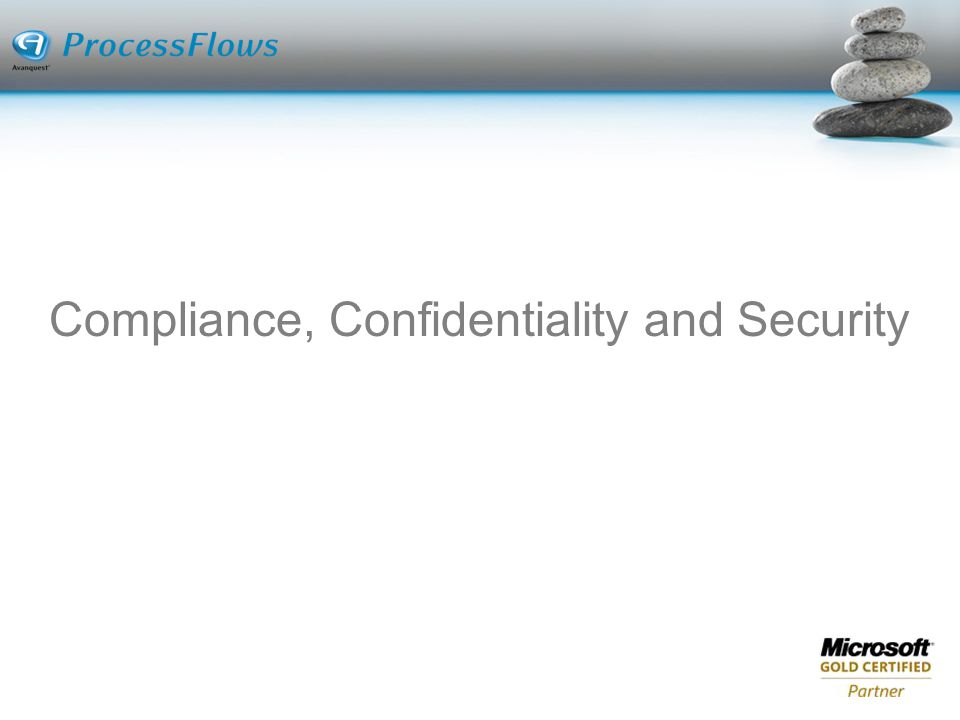 Compliance, Confidentiality and Security