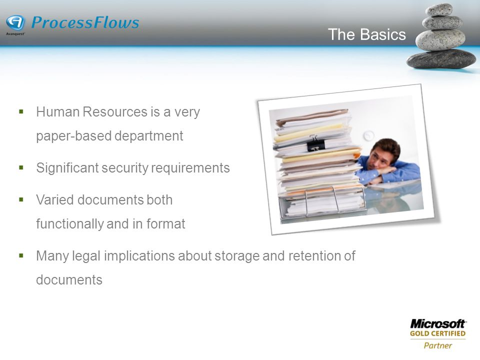 The Basics Human Resources is a very paper-based department