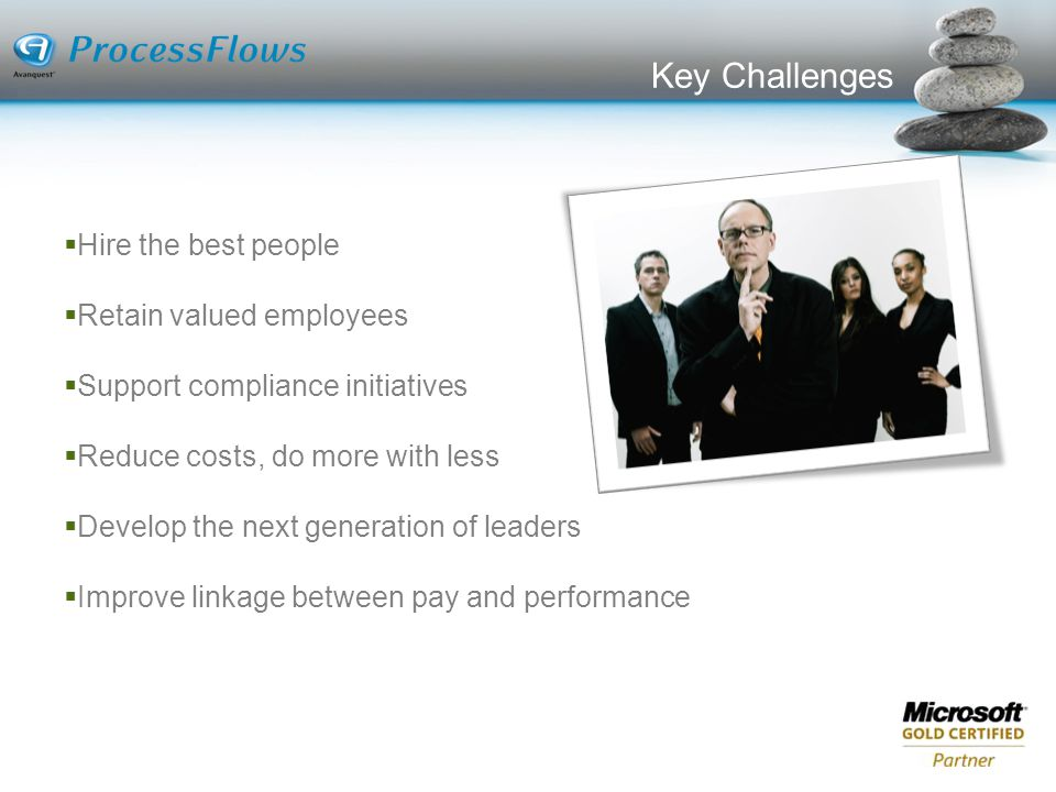 Key Challenges Hire the best people Retain valued employees