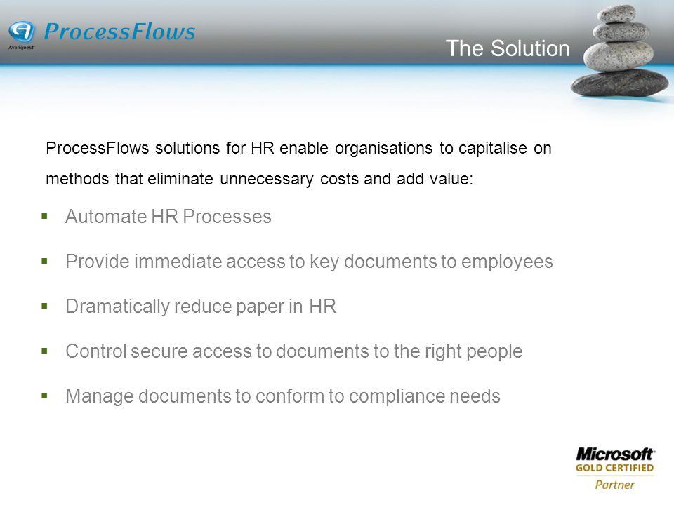 The Solution Automate HR Processes