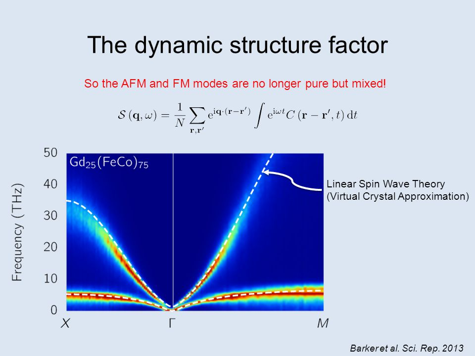 The dynamic structure factor