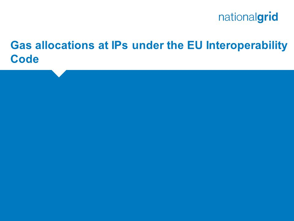 Gas allocations at IPs under the EU Interoperability Code