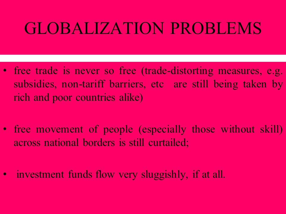 GLOBALIZATION PROBLEMS