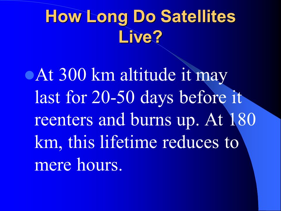 How Long Do Satellites Live
