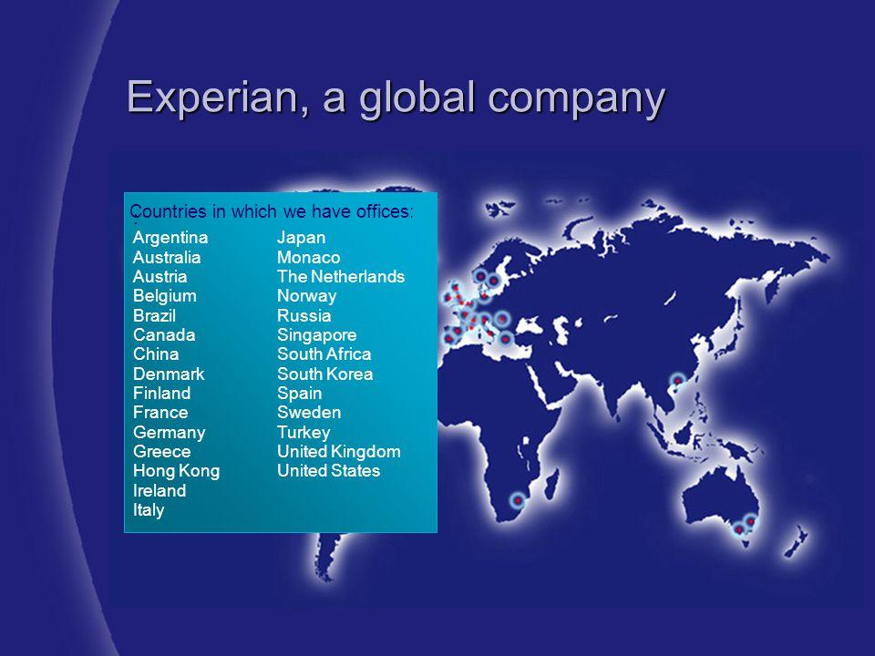 Experian, a global company