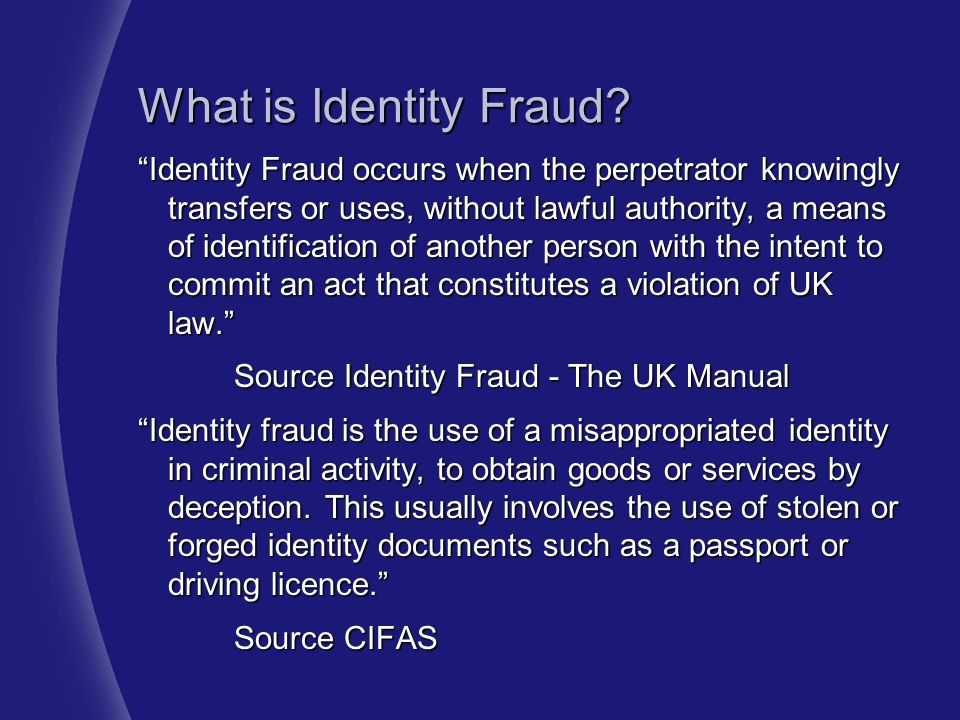 What is Identity Fraud