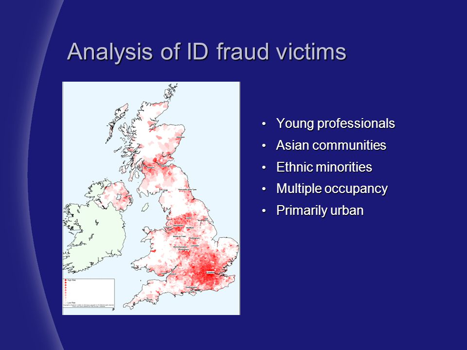Analysis of ID fraud victims