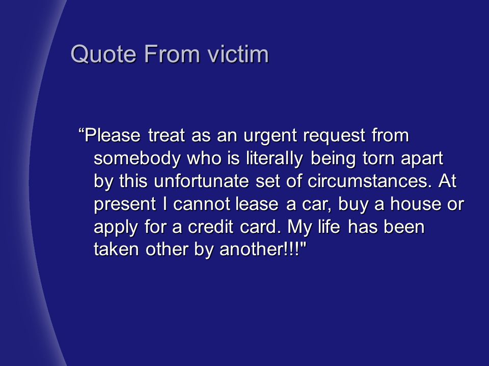 Quote From victim