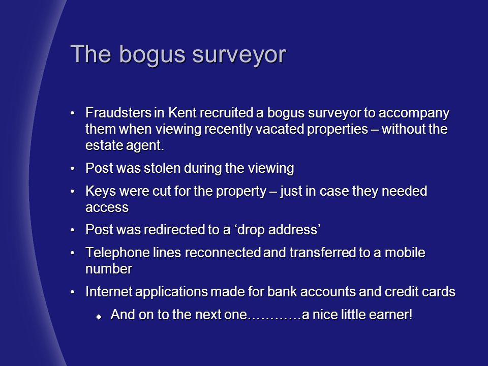 The bogus surveyor