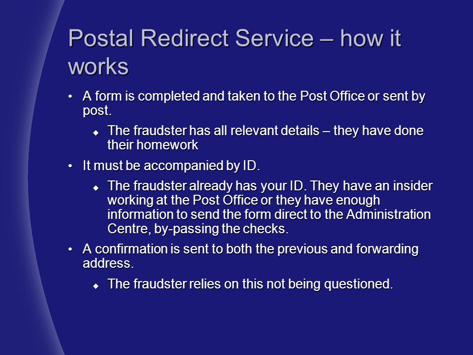 Postal Redirect Service – how it works