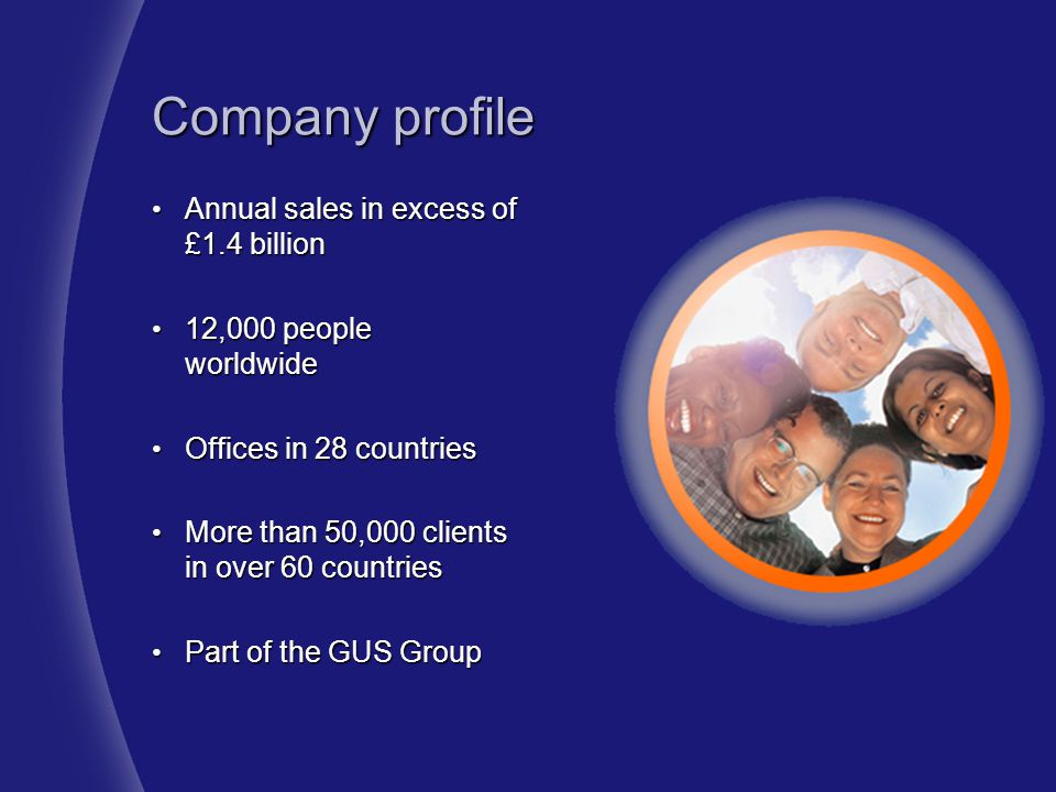Company profile Annual sales in excess of £1.4 billion
