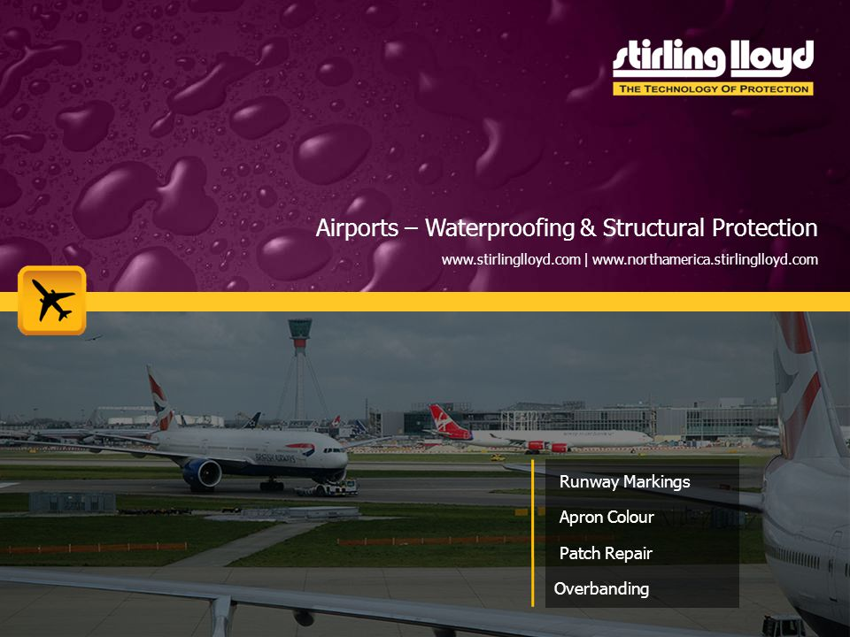 Airports – Waterproofing & Structural Protection