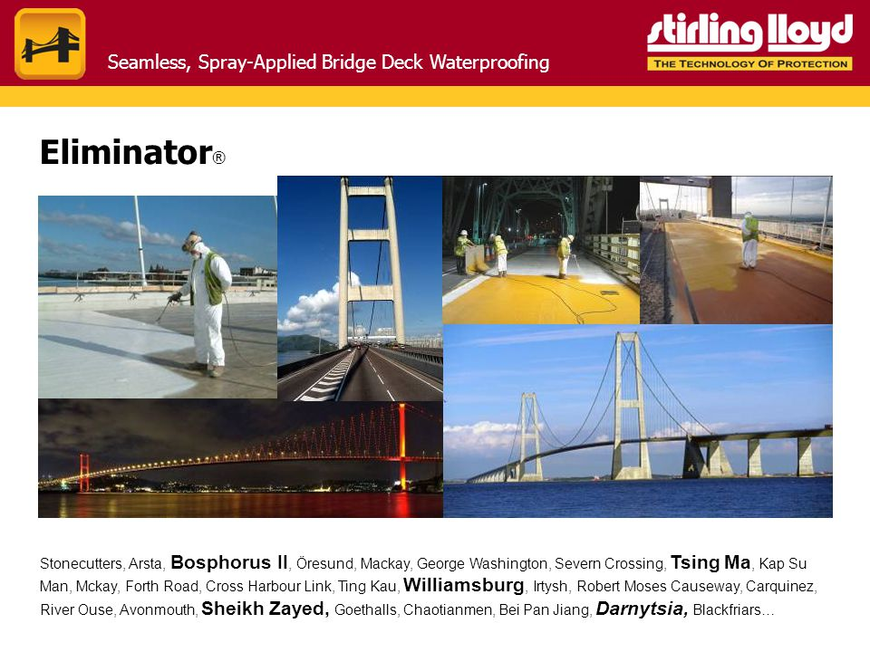 Eliminator® Seamless, Spray-Applied Bridge Deck Waterproofing