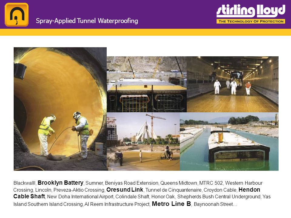 Spray-Applied Tunnel Waterproofing