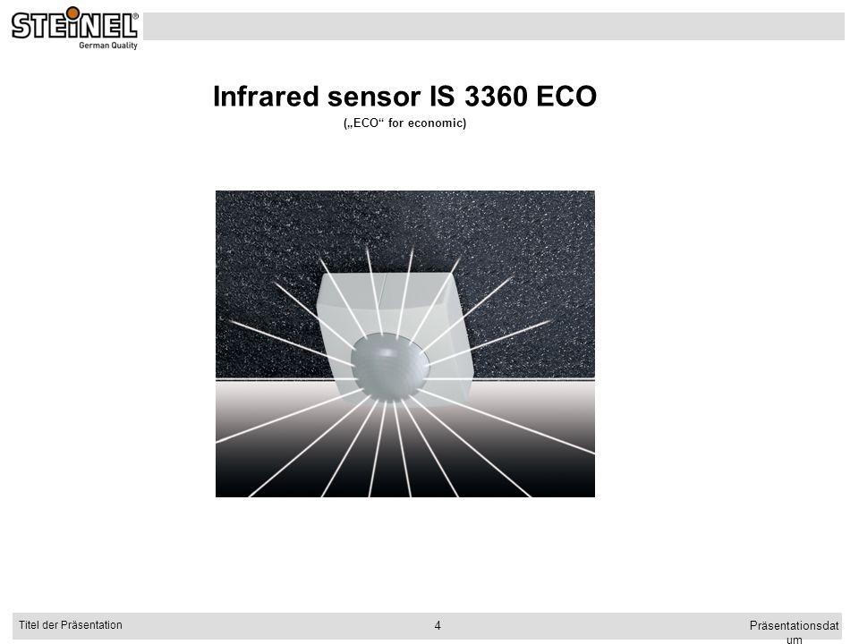 "Infrared sensor IS 3360 ECO (""ECO for economic) Präsentationsdatum"