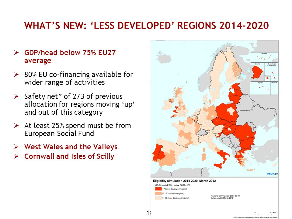 WHAT'S NEW: 'LESS DEVELOPED' REGIONS 2014-2020