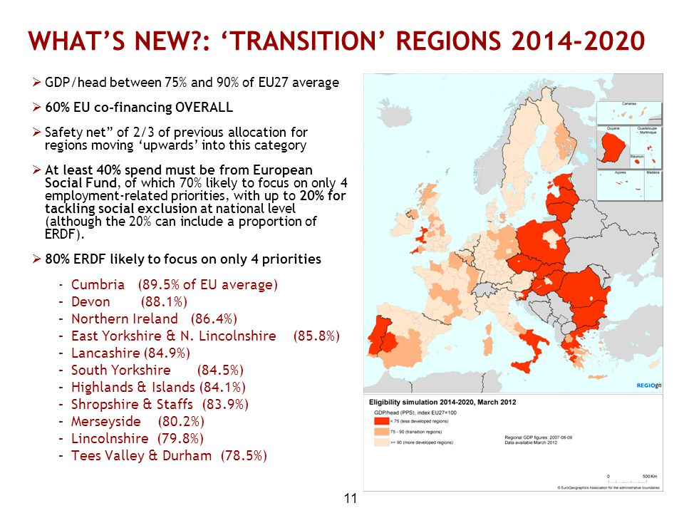 WHAT'S NEW : 'TRANSITION' REGIONS 2014-2020