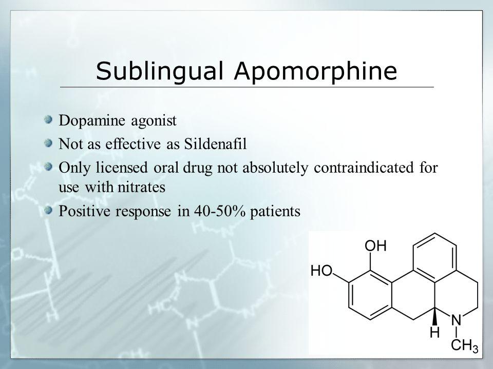Sublingual Apomorphine