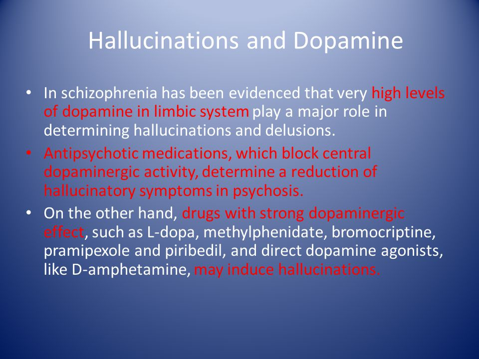Hallucinations and Dopamine