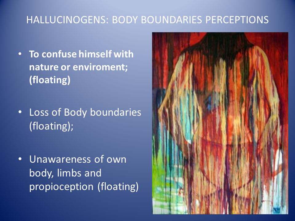 HALLUCINOGENS: BODY BOUNDARIES PERCEPTIONS