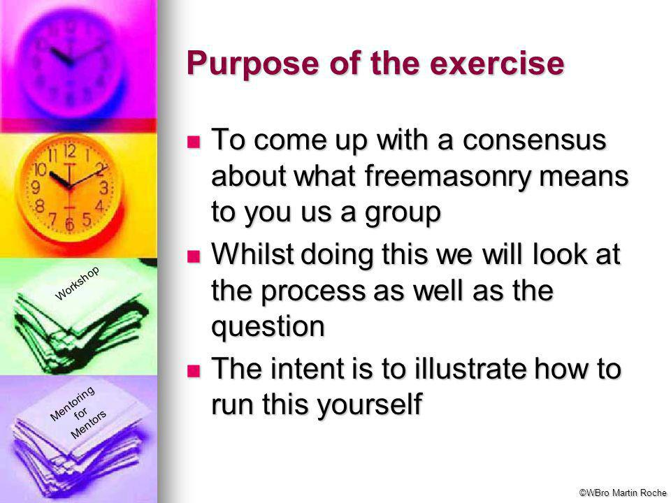 Purpose of the exercise