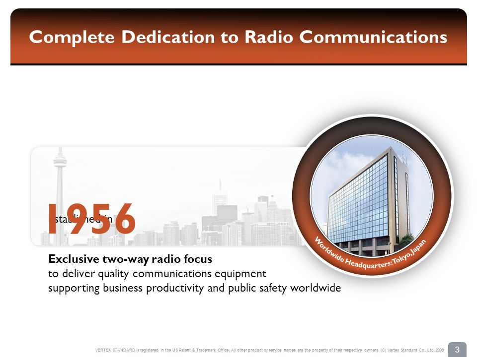 Complete Dedication to Radio Communications