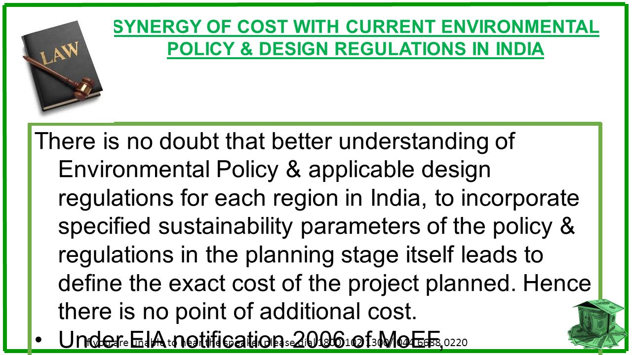 SYNERGY OF COST WITH CURRENT ENVIRONMENTAL