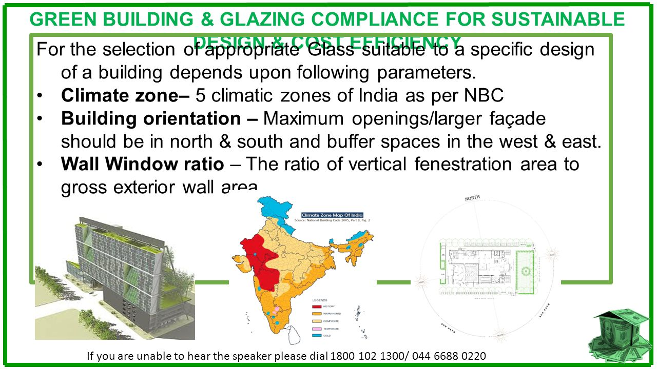 Climate zone– 5 climatic zones of India as per NBC