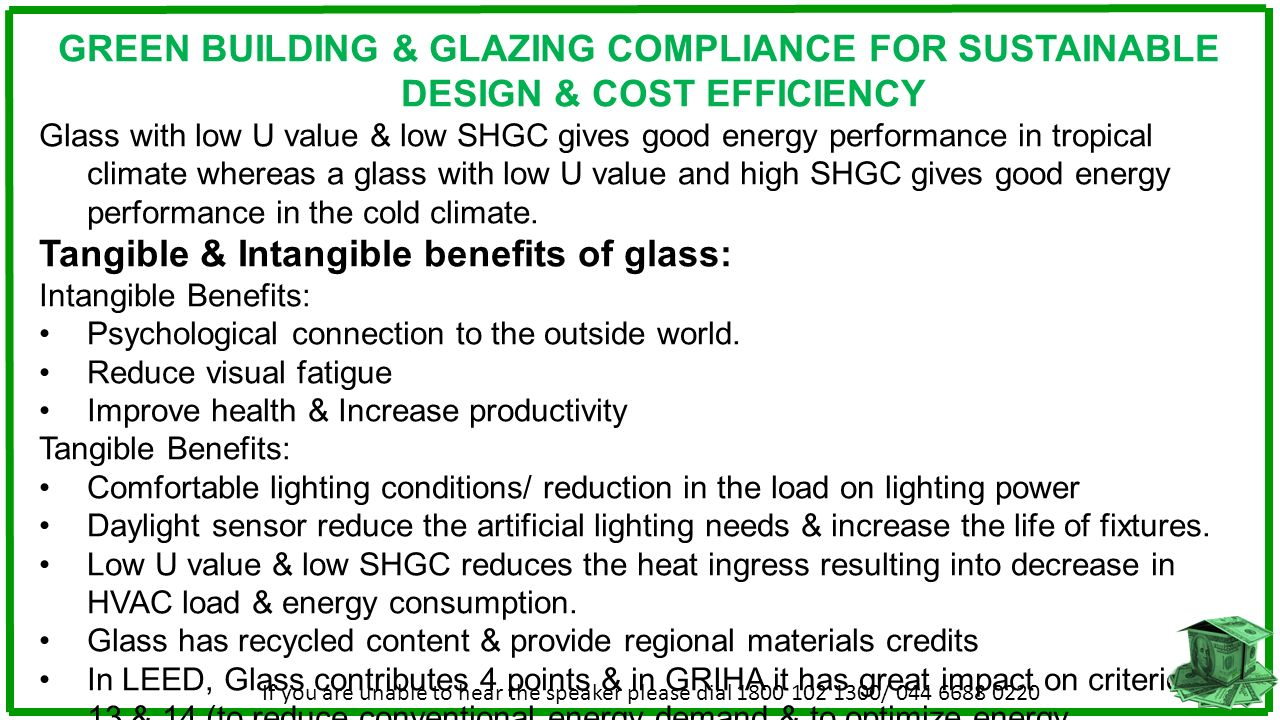 Tangible & Intangible benefits of glass: