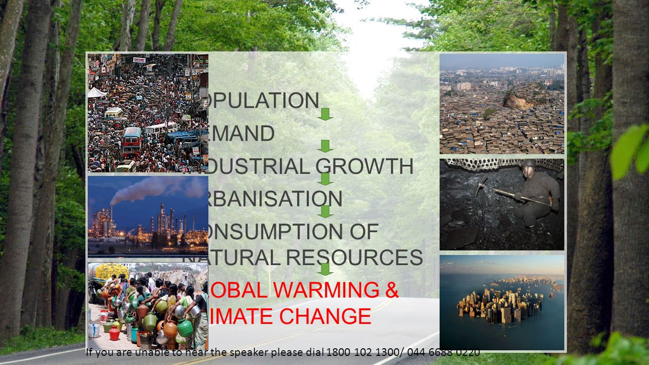 CONSUMPTION OF NATURAL RESOURCES GLOBAL WARMING & CLIMATE CHANGE