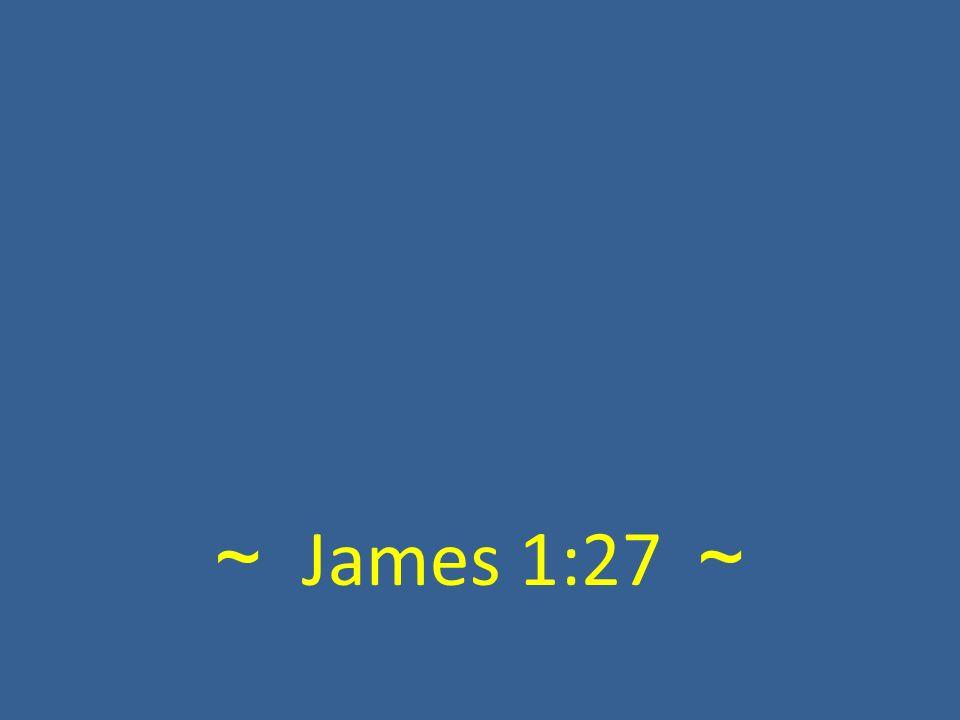 ~ James 1:27 ~