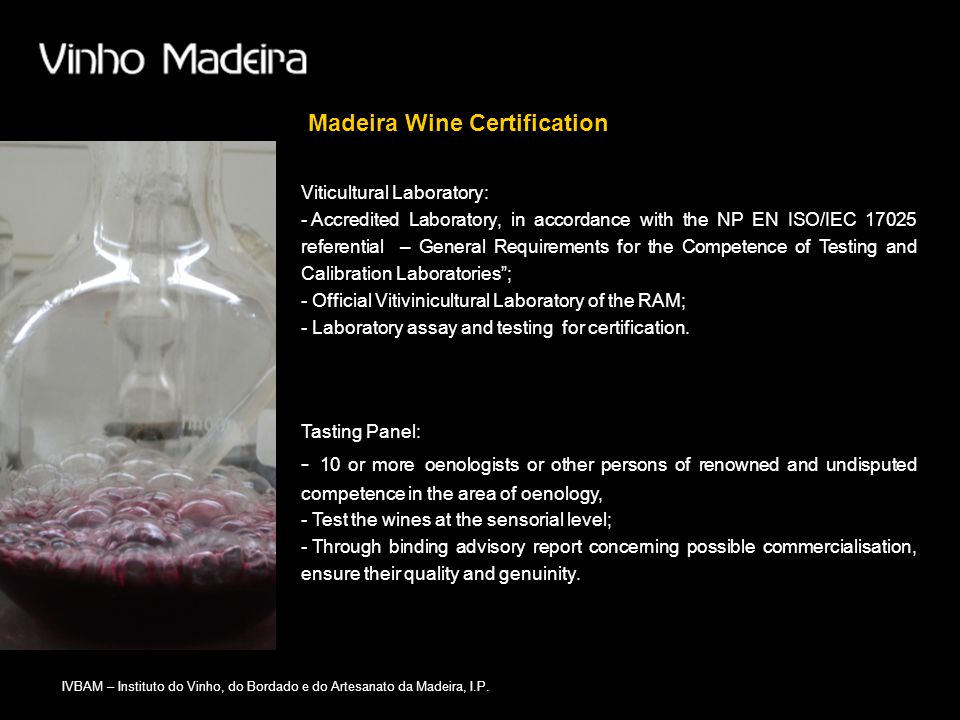 Madeira Wine Certification