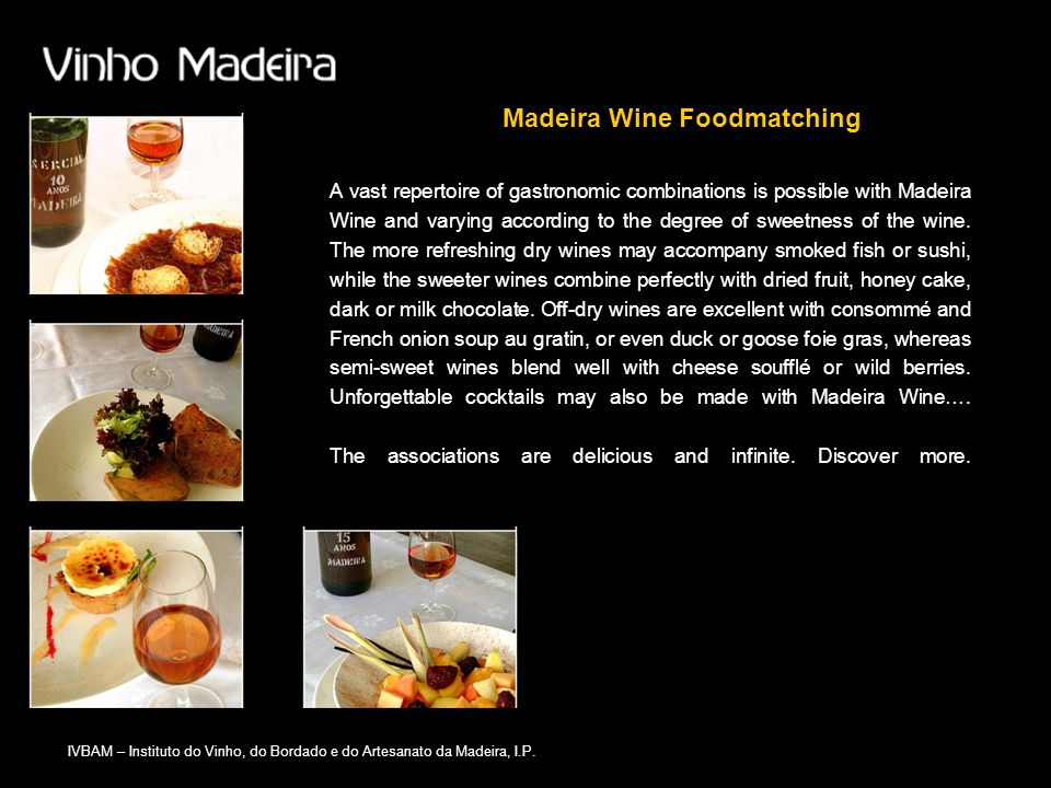 Madeira Wine Foodmatching