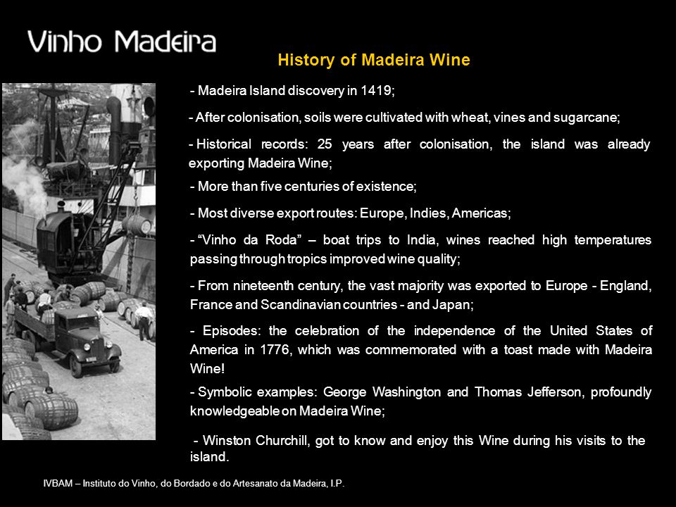 History of Madeira Wine