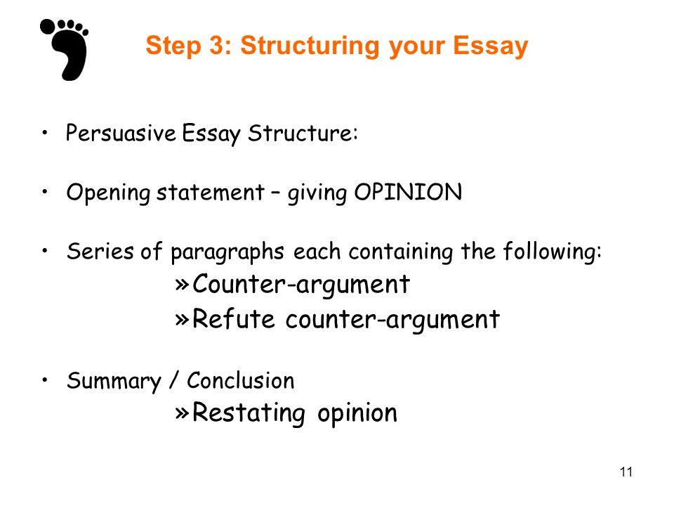 persuasive essay structuring