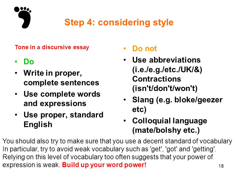 discursive writing ppt video online 18 step
