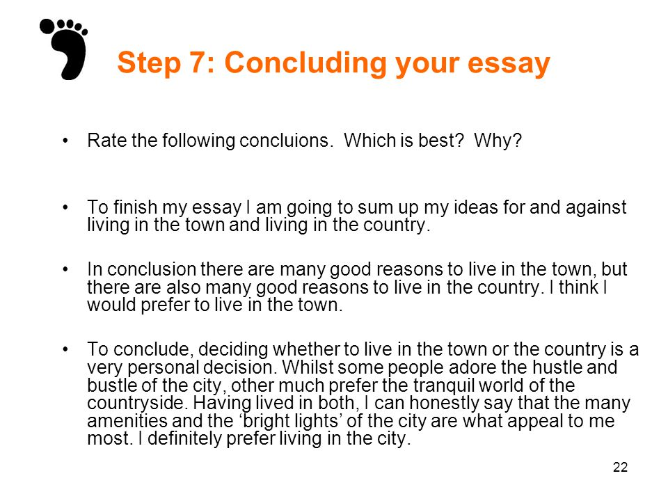 discursive writing ppt video online  step 7 concluding your essay