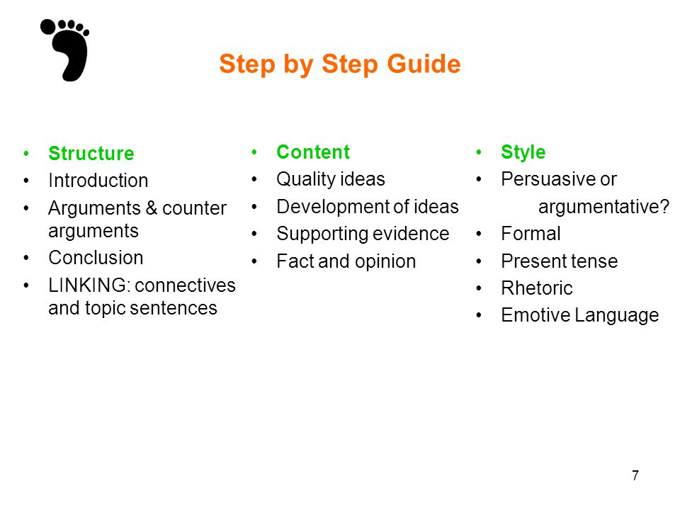 Step by Step Guide Structure Introduction