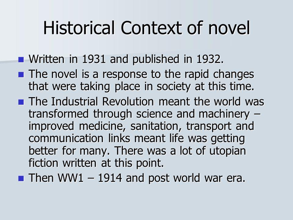 Historical Context of novel