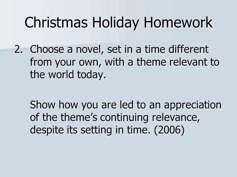 Christmas Holiday Homework