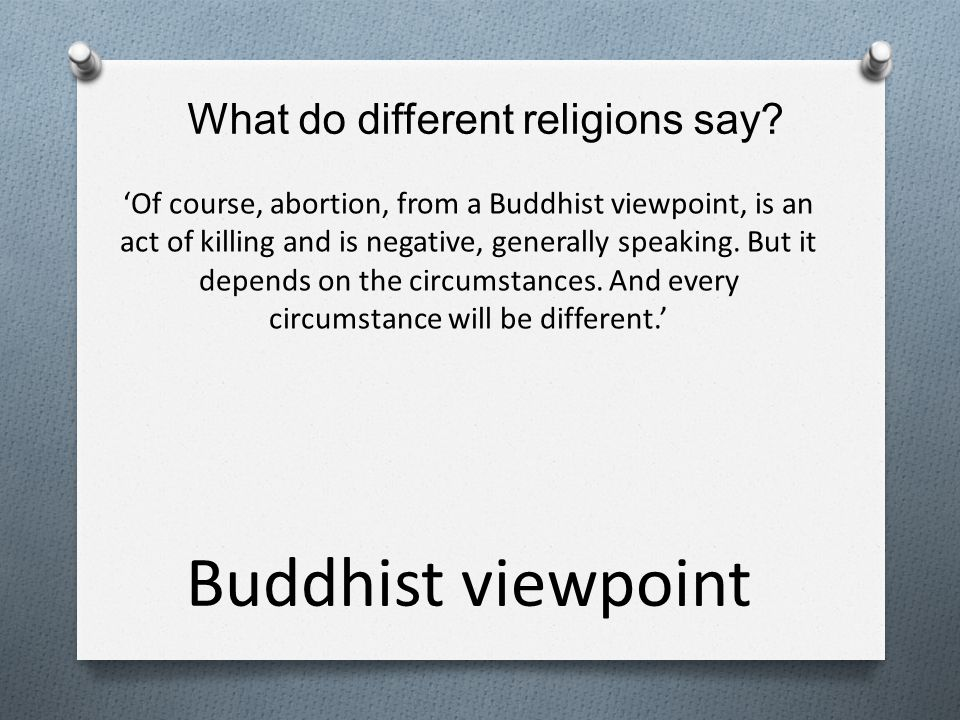 What do different religions say