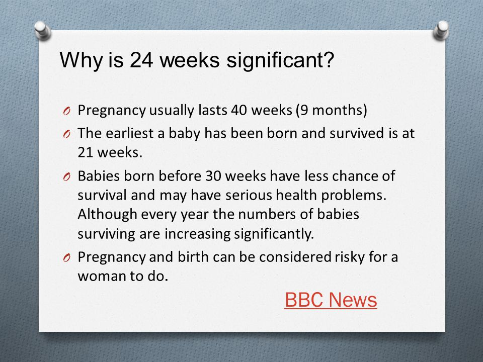 Why is 24 weeks significant