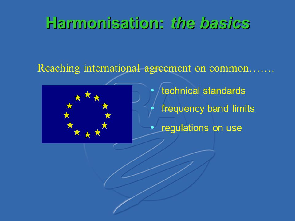 Harmonisation: the basics