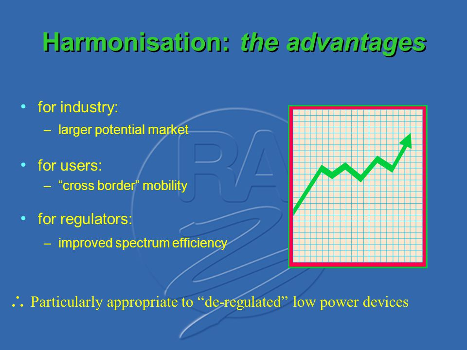 Harmonisation: the advantages